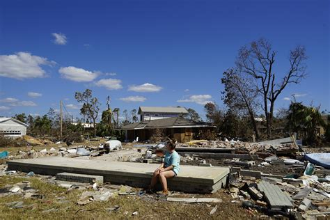 Forty miles from the coast, homes were levelled.