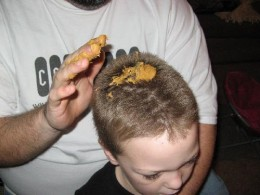Peanut Butter easily removes gum from hair with no tugging or pulling.