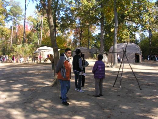 The Jamestown Native American village, November 2014.