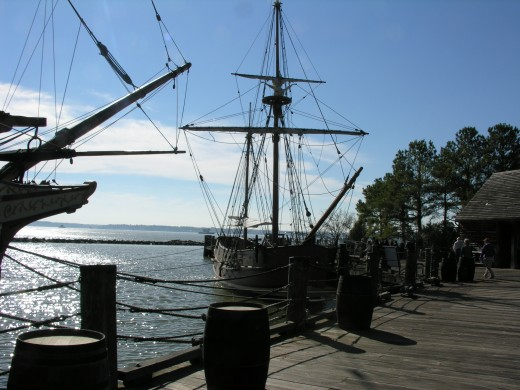 The dock at Jamestown.