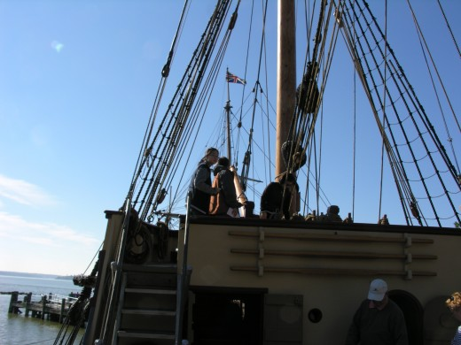 On board the Susan Constant, November 2014.
