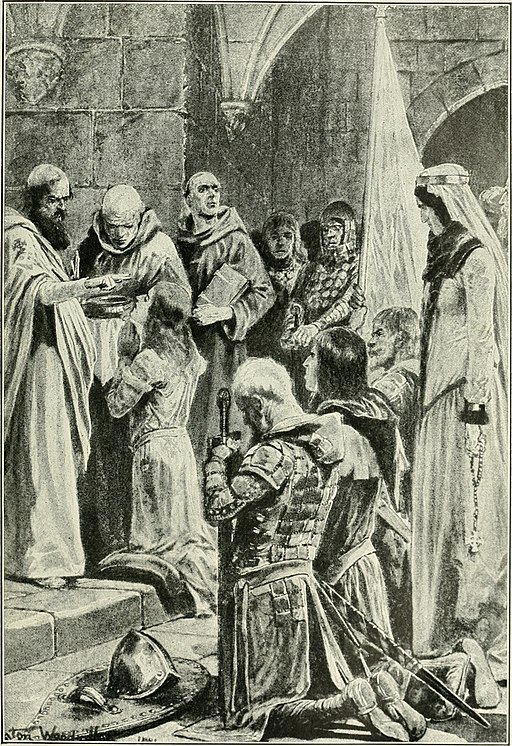 "Ethelred is Crowned: From ""Story of the Greatest Nations."" Attribution: Internet Archive Book Images."
