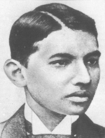 Gandhi as a young law student in London.