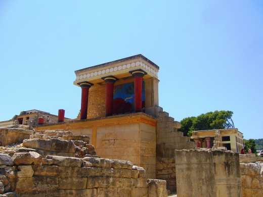 The remains of King Minos' palace in Knossos, Crete