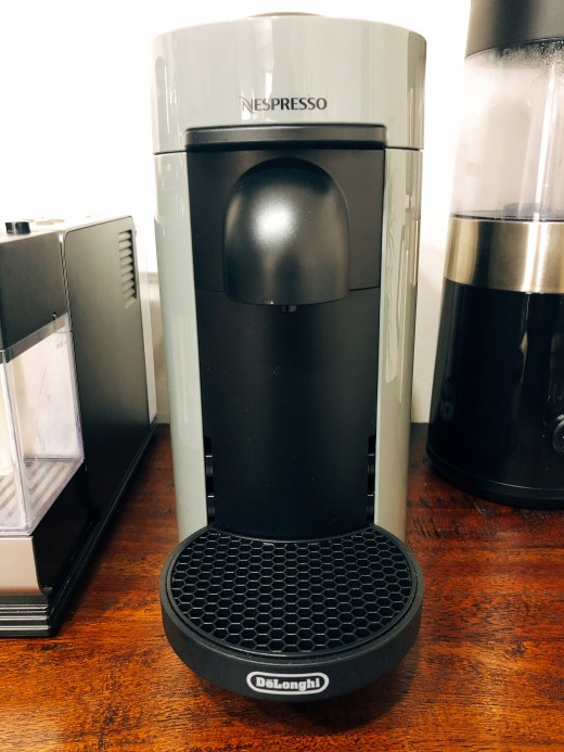 I have the machine on top of my coffee bar.