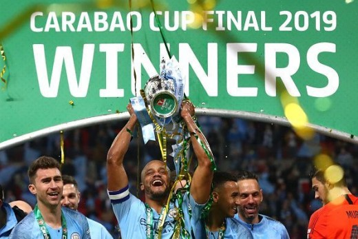 Manchester City winners of the Carabao Cup