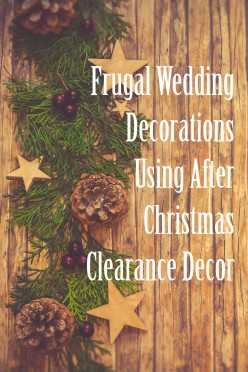 Cheap Wedding Decorations Using Christmas Supplies