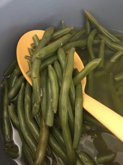 Green beans ready to serve.