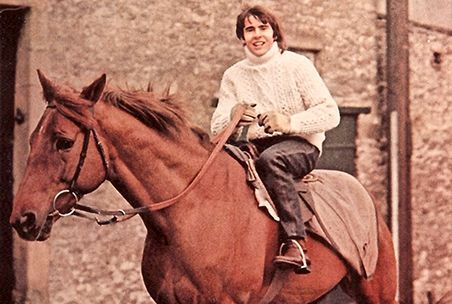 Davy Jones Loved Horses, this is an early photo.