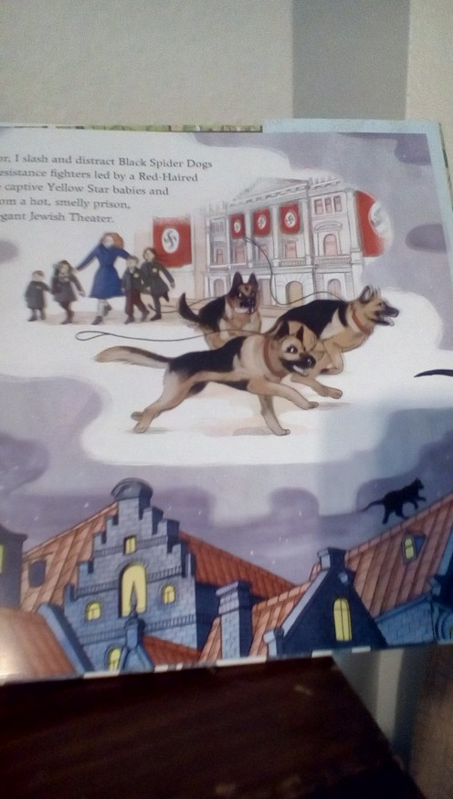 The Nazis' dogs are distracted by Mouschi the cat as the Jewish children are rescued by a heroine in Amsterdam.
