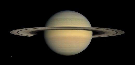 Saturn with its rings