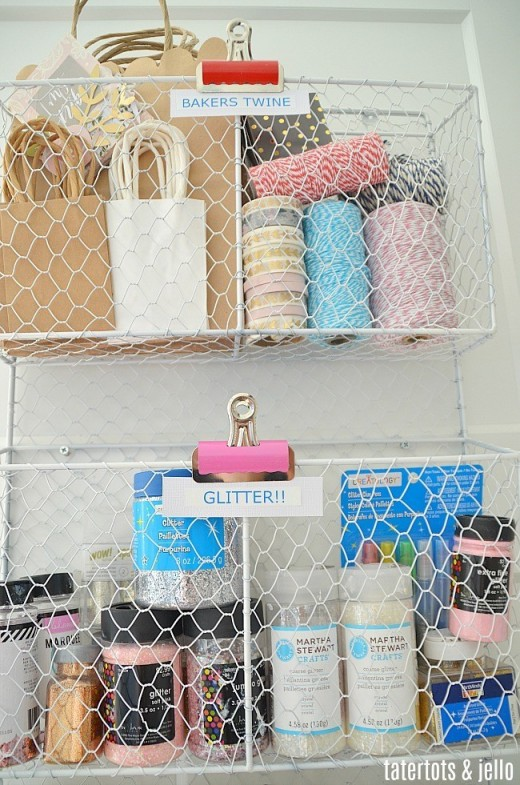 Use every space in your craft room. Closets are valuable space. Even The doors can be used. Learn how to do a closet makeover here