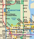 A portion of the MTA subway map found in all subway cars.