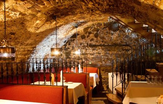 Rustic Castle Dining Cellar