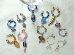 There is no end to the variety of wine glass charms.