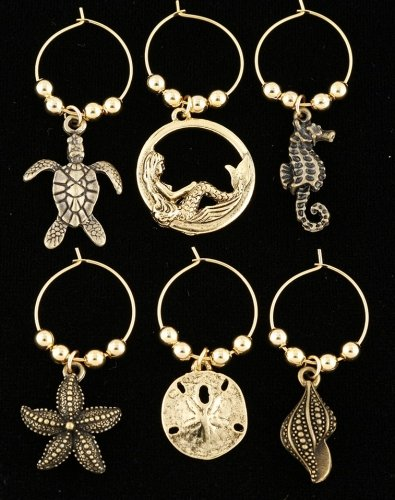 Wine glass charms can be artistic masterpieces!