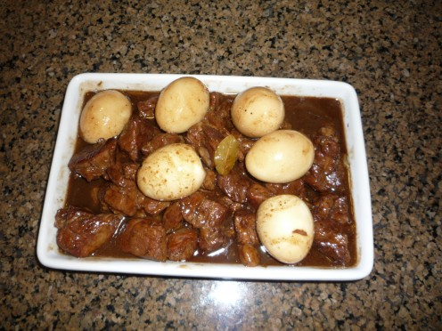 Pork Adobo with hardboiled eggs!