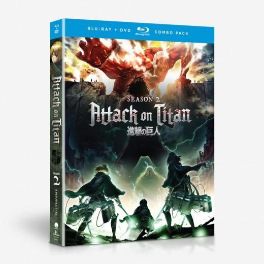 Attack on Titan Season 2 blu-ray cover.