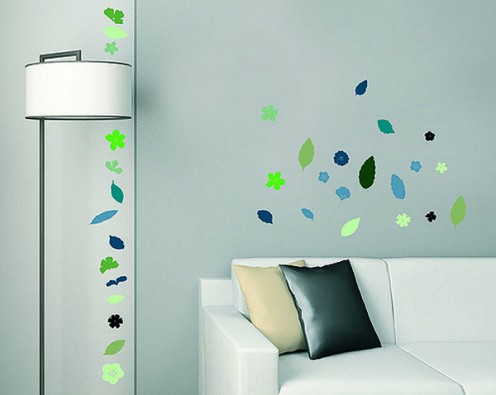 These removable whimsical decal stripes are perfect for a rental unit.
