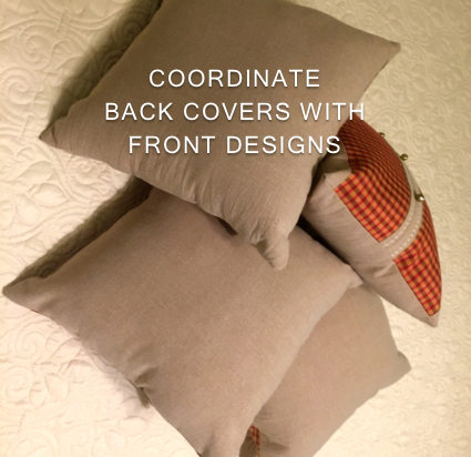 A stash of heavier woven fabric suited the throw pillow backs.