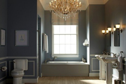 Gorgeous chandeliers create glamour but follow local codes before installation.