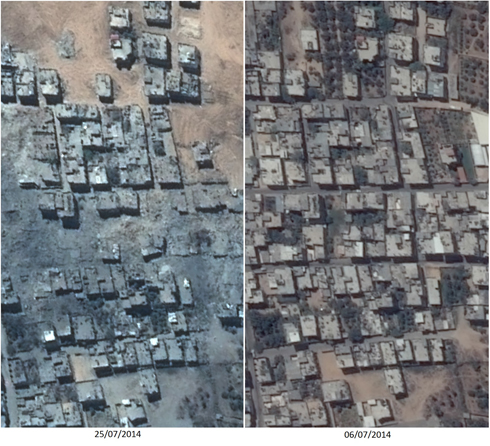 Satellite photo of part of Gaza