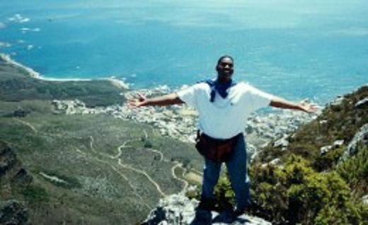 On Top of Table Mountain near Cape Town
