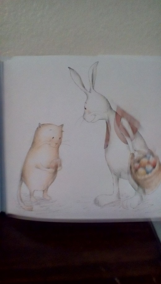 The Easter Bunny looks tired