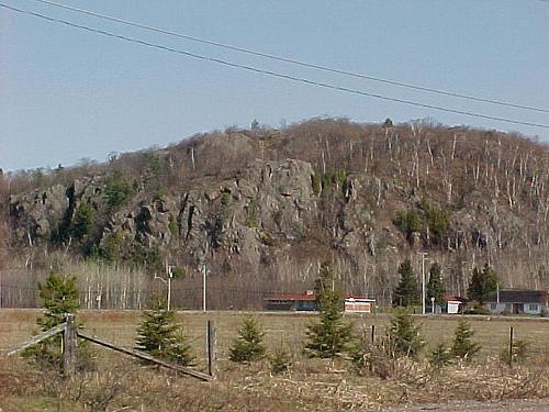 Canadian Shield rock outcrop near Gros-Cap, Prince Township