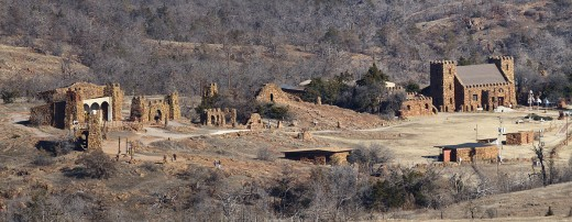 Home of a long-running passion play: The Holy City of the Wichitas at Wichita Mountains Wildlife Refuge, Oklahoma.