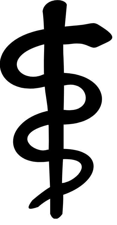 Rod of Asclepius, the internationally recognized symbol of medicine