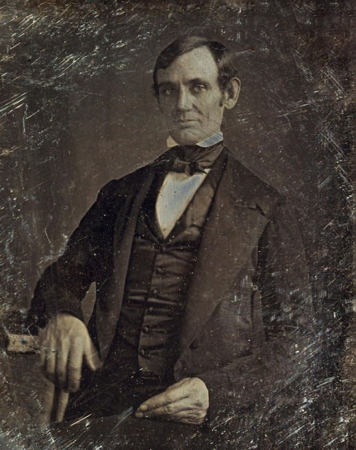 Lincoln in his thirties.