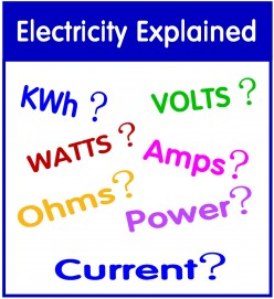 Understanding Watts, Amps, Volts, Kilowatt Hours (kWh), Ohms and Electrical Appliances