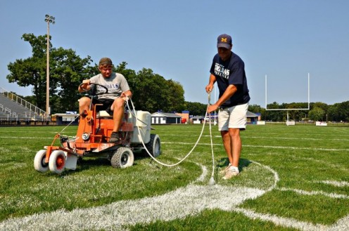 Each member of the Maintenance Crew works as One in order to make sure that the field is their very best.