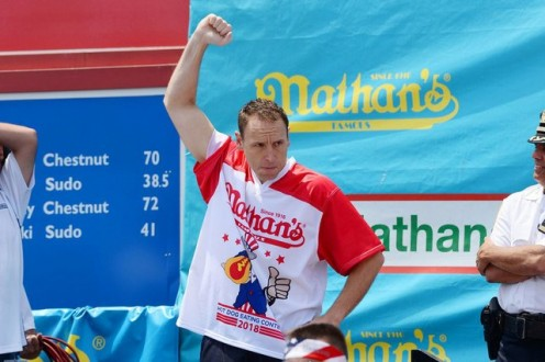 Competitive-Eating Champion, Joey Chestnut.