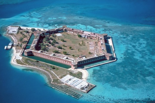 Fort Jefferson on Garden Key in the Dry Tortugas.