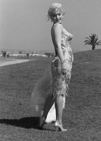 Marilyn in her Orry Kelly Dress.
