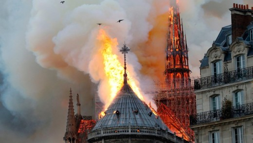 The. fire engulfs the Spire.