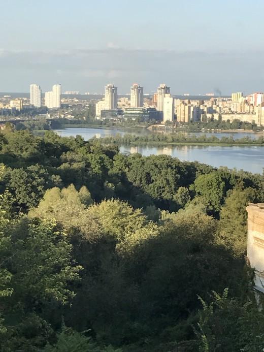 View from M. M. Hryshko National Botanical Garden