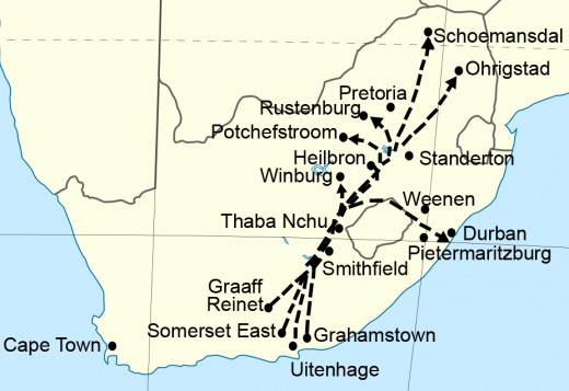 Routes of the Great Trek