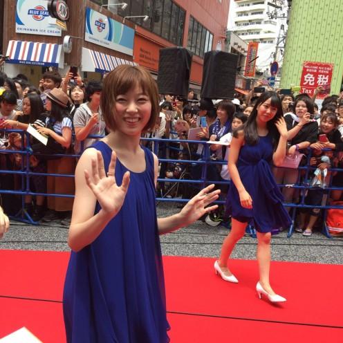 With Miyuki Watanabe (left).