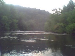 The Toccoa River at the campground.
