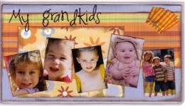 Why not personalize your checkbook cover with the photos of family?