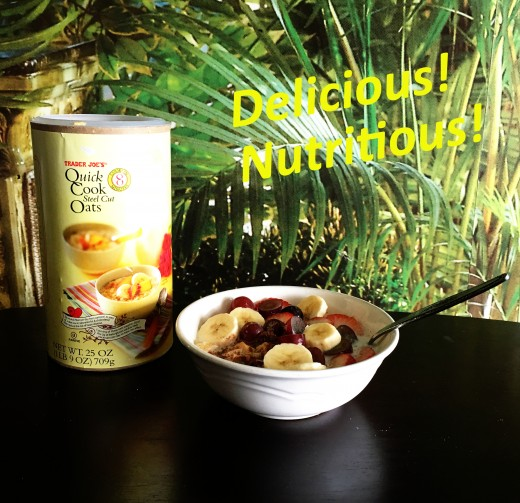 Delicious, Nutritious Breakfast Dish Made with Trader Joe's Steel Cut Oats