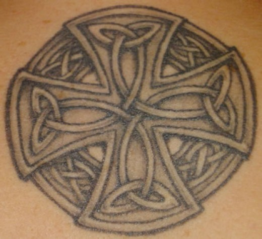 Irish Celtic Cross Tattoo