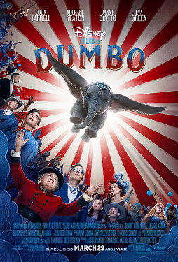 Dumbo's Theatrical Release Poster.  Notice, except for Dumbo all other characters depicted are human.