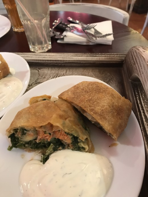 Salmon and Spinach Meat Pie