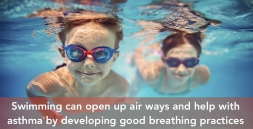 Swimming is considered the best form of exercise for asthmatics.