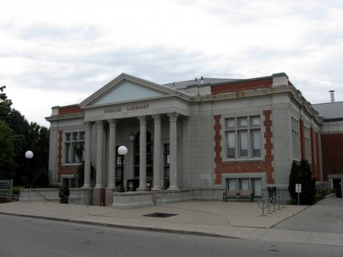 Public Library in Woodstock, Ontario. This library is known as one of the Carnegie Libraries