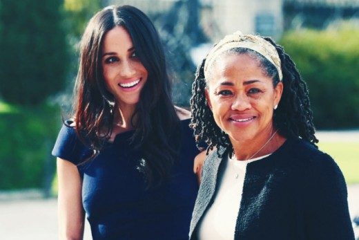 The Duchess of Sussex with her mother, Doria Ragland